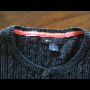 Gap Kids cable knit cardigan sweater navy blue